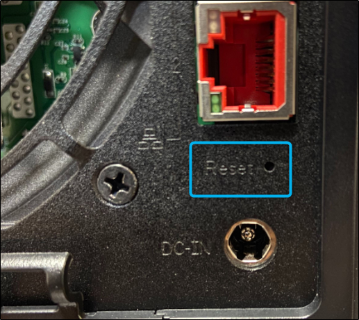 Reset button on ASUSTOR NAS